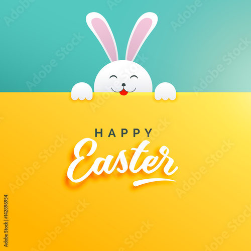cute background of rabbit for happy easter