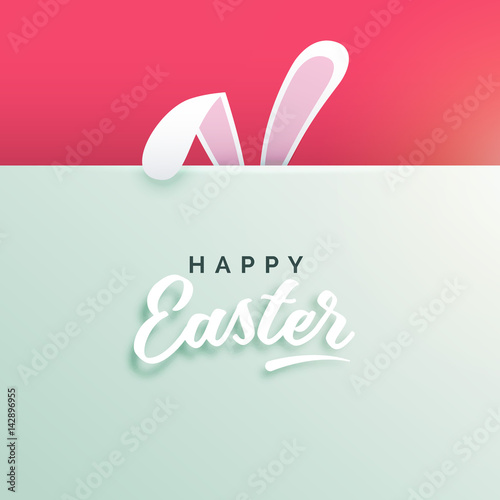 happy easter background with bunny ears