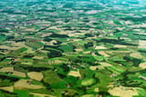 Aerial view of farmlands in Germany.