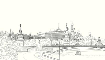 Sketch of the Moskow Kremlin