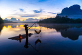 Fishing at Nong Talay in Krabi, Thailand in the morning.