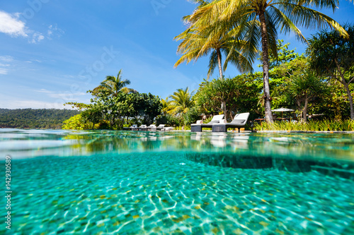 Poster Luxury resort swimming pool