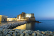 Quadro Ancient Castel dell'Ovo and Tyrrhenian sea in amazing evening in Naples, Italy
