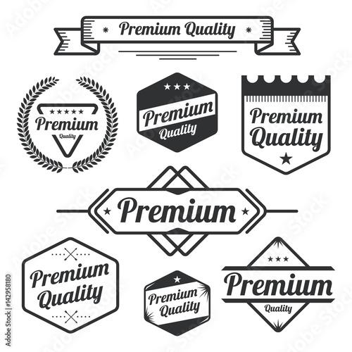 Set of Vintage Premium Quality Elements Design. Vector illustration.