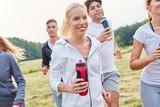 Junge Leute nach dem Jogging