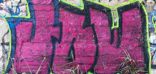 Street wall graffiti