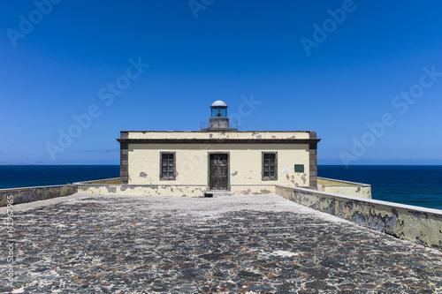 Deurstickers Canarische Eilanden Lighthouse Faro de Martiño on the Canary Islands Fuerteventura Los Lobos.