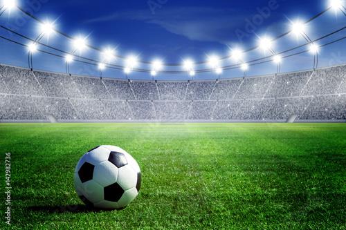 ball on field of stadium Poster