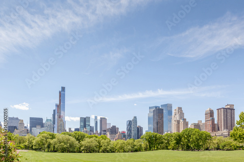 Poster New York City Manhattan skyline panorama view from Central park.