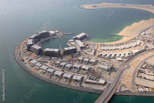 Poster Dubai Daria Island Insel Luftaufnahme Luftbild