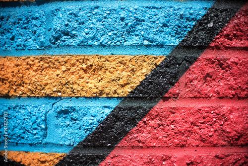 Aluminium Graffiti Multi Color Brick Wall Background