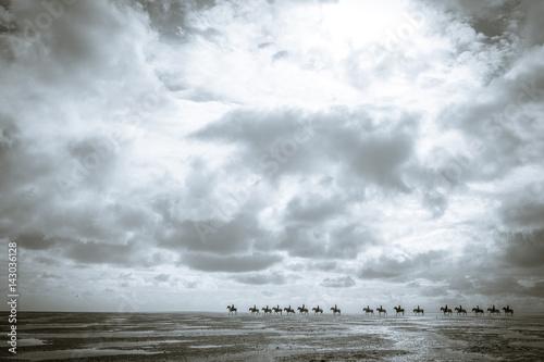 Reiten im Watt, Nordsee, Watt, Pferde, reiten, Strand, Ebbe,