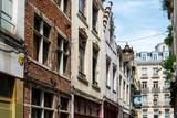 BRUSSELS, BELGIUM - June 16, 2016. Street view of Buildings around city night, one of the most popular tourist destinations in brussel, Belgium.