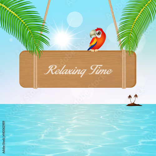 relaxing time sign