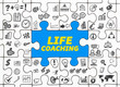 Life Coaching / Puzzle mit Symbole