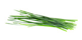 Garlic chives isolated on white background - 143070128