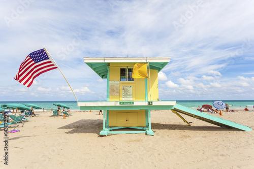 Hollywood Beach lifeguard tower, Florida Poster