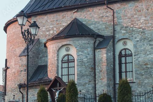 Ancient stone greco orthodox church close
