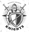 Vintage Monochrome Knights Template