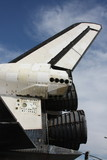 NASA Space Shuttle TAiL engines Blue Sky