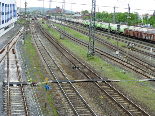 Staande foto Treinstation Bahnhof Bamberg
