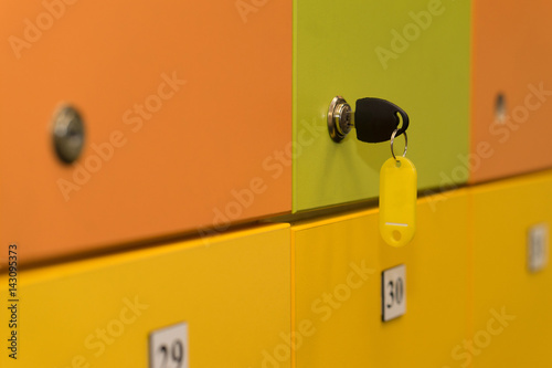 Poster lockers colorful with key