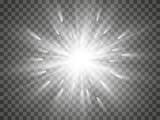 Fototapety Glow light effect. Star burst with sparkles.Sun.