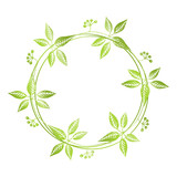 Hand drawn floral wreath - 143125112