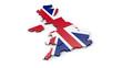 3D Karte von England oder Großbritannien