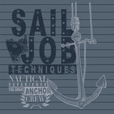 Sail job sign with anchor