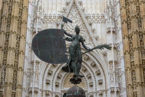 Replica of Giraldillo Statue, Seville cathedral, Spain
