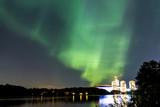 Aurora borealis in the sky of Stockholm
