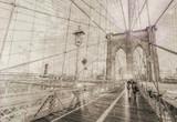 Vintage view of Brooklyn Bridge. - 143175730