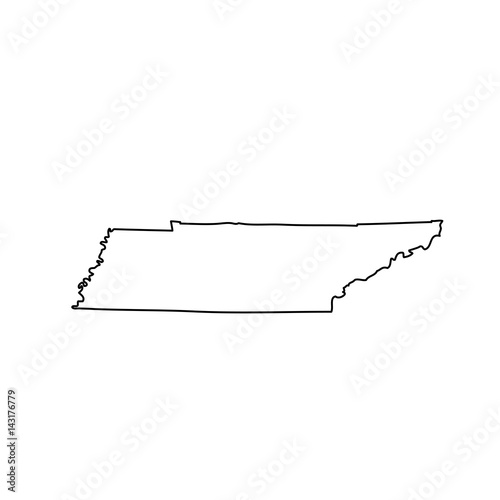 map of the U.S. state of Tennessee  - 143176779
