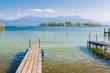 Blick zur Fraueninsel im Chiemsee, Oberbayern in Deutschland