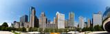 Fototapeta Chicago cityscape view from Millenium park