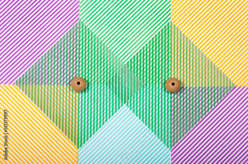 Oblique lines for a multi-colored background. Poster