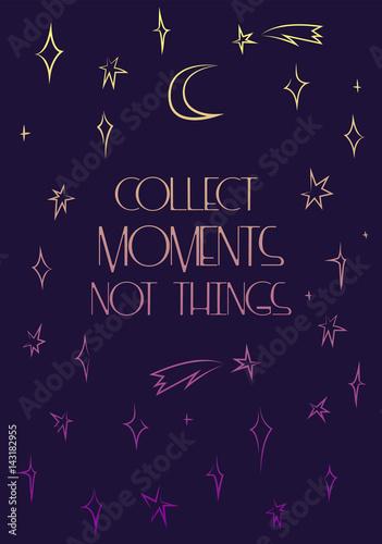 zbieraj-chwile-nie-rzeczy-plakat-wektor-motywacji-delikatne-gwiazdy-gradientu-na-abstrakcyjnym-nocnym-niebie