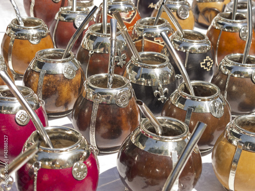 Foto op Canvas Buenos Aires Calabash matte cups in San Telmo district, Buenos Aires, Argentina