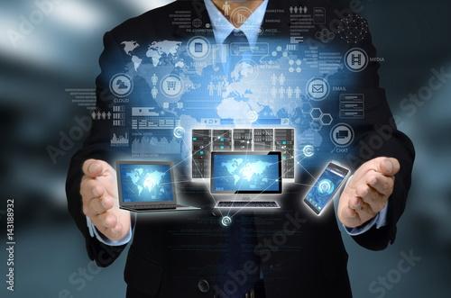 Internet technology Concept