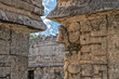 Chichen Itza Mexico pyramid view detail