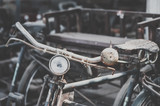 Detail of a Vintage Bike HandleBar with Background Bokeh