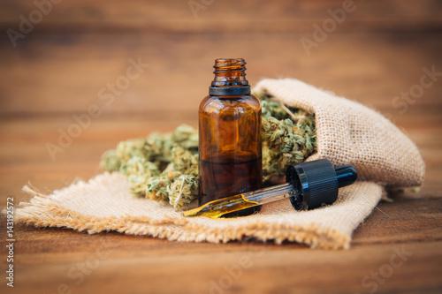 Chwastów, medycznej marihuany Grunge Detail