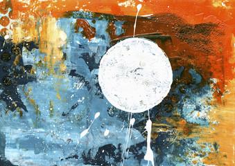 Acrylmalerei Hintergrund grunge bunt Kreis