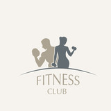 Fototapety logo fitness club