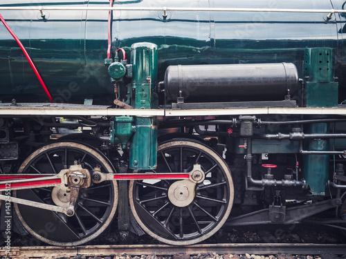 Steam Locomotive Wheel Engine Train Engine Poster
