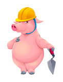Bricklayer pig with tool