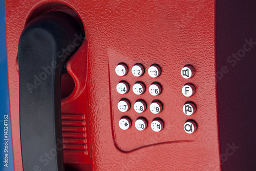the buttons on the red phone Poster