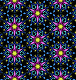Decorative Colorful Oriental Floral Geometric Pattern