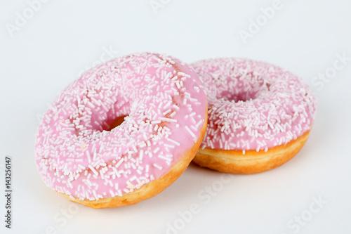 Poster rosa Donut  mit Streusel